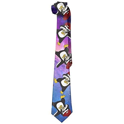 Hip Hop Penguin Dab 100% Polyester Mens Men's Classic Elegant Ties Retro Skinny Necktie by Summer Sea Breeze