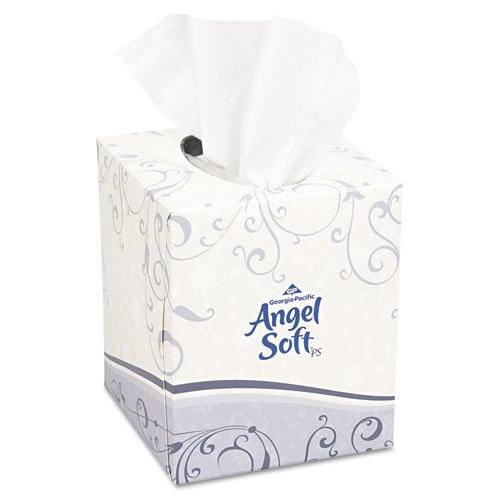 Georgia Pacific 46580BX Angel Soft ps Premium Facial Tissue- Cube Box- 96 Sheets/Box- White B0061US2I0