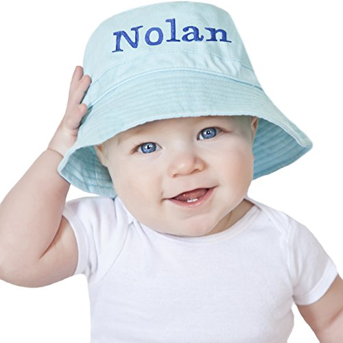 Melondipity s Light Blue Personalized Baby Boy Sun Hat (12-24 months) - Buy  Online in UAE.  1b604e02725d