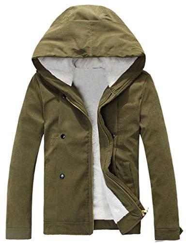 Inverno Caldo Ttyllmao Front Armygreen Piumino Pile Il Cappuccio Con Maschile Cappotto In Ispessisce zip R00wnq8fT