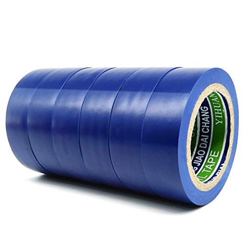 6 Pack Electrical Insulation Tape - Maveek 0.67inch x 29.5ft PVC Waterproof, Flame Retardant, UL Listed, Strong Rubber Based Adhesive Gaffer Tapes(Blue)