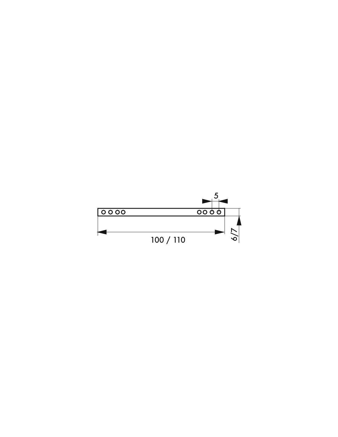 Poign/ée de porte Jeu de 2 carre 7 x 110 mm pleins pour porte dint/érieur Thirard