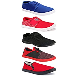 Axter Sports Running Shoes/Casual/Sneakers/Loafers Shoes for Men Multicolors (Combo-(5)-1219-1221-1140-785-1154)