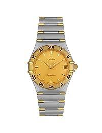 Omega Men's 1312.10.00 Constellation Quartz Two-Tone Yellow Dial Watch