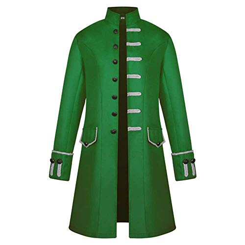 Gothic Clothing Men,Milimieyik Mens Vintage Tailcoat Jacket Goth Long Steampunk Formal Victorian Frock Coat Costume -