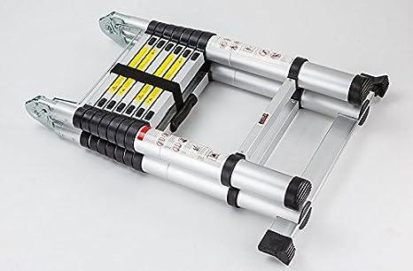 NEW 3.8M Multi-Purpose Aluminium Telescopic Ladder Extension Extendable Builder