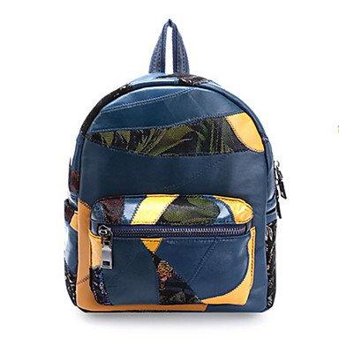 Bolsas para mujer All Seasons Cowhide Bolso cremallera para oficina Formal &Amp; Carrera Azul Negro Rojo, Azul Blue