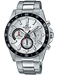 Men's Edifice Quartz Watch with Stainless-Steel Strap, Silver, 21.6 (Model: EFV-570D-7AVUDF)