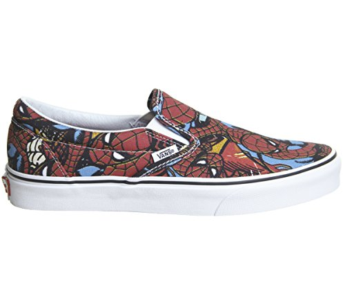 Vans Classic Slip-on (Marvel) Spider-manblack Vn0a38f79h7 Mens 9, Womens 10.5