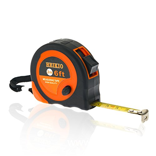 Mini Tape Measure 6FT/2M By HEIKIO, Metric and Inch Scale, Sturdy Mark for Easily Reading- Portable Measuring Tape H17003