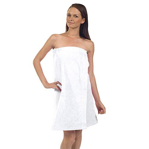 (Terry Town WV5001-WHITE-OS Womens Terry Velour Spa Wrap, One Size, White)