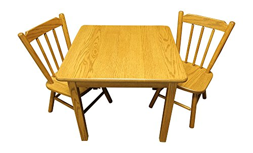 Weaver Craft Childs Table and Chairs Solid Oak Amish Made