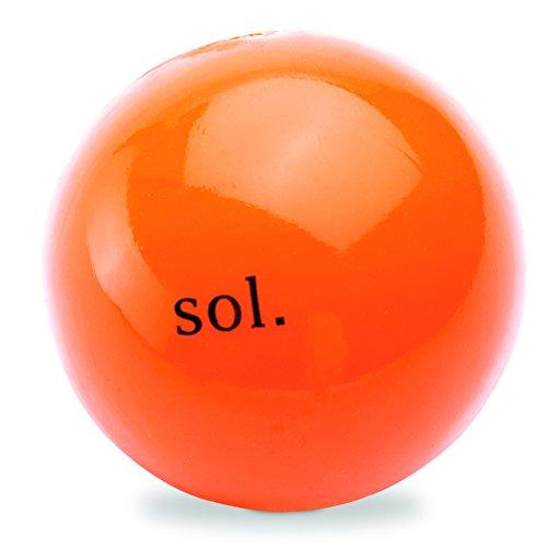 Planet Dog Orbee Tuff Sol Sun Dog Chew-Fetch Ball, 100% Guaranteed Tough, Medium to Large Dogs, Made in the USA, Orange