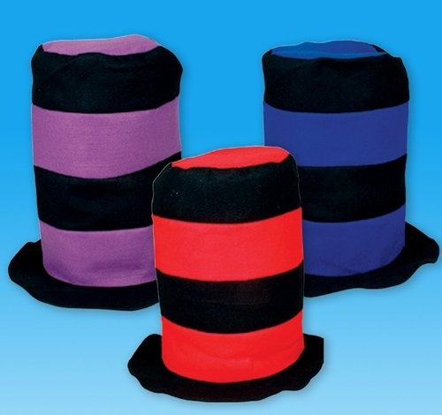 "26"" ASSORTED BLACK STRIPE STOVEPIPE HAT, Case of 144 by DollarItemDirect"