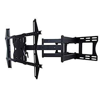 "SunBriteTV Dual Arm Articulating (Full Motion) Outdoor Weatherproof Mount for 37"" - 80"" TV Screens & Displays - SB-WM-ART2-L-BL (Black)"