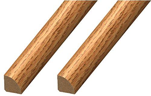 "Cal-Flor MD20032 Quarter Round ¾"" x ¾"" x 94"" Floor Base Molding for Wood, Laminate, WPC, LVT & Vinyl 2 Pack Natural Oak 2 Piece"