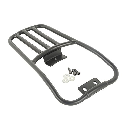 XFMT Black Rear Fender Luggage Rack For Harley Softail Deluxe 06-16 Fatboy 2007-2016 2015 (Rear Deluxe Fender)