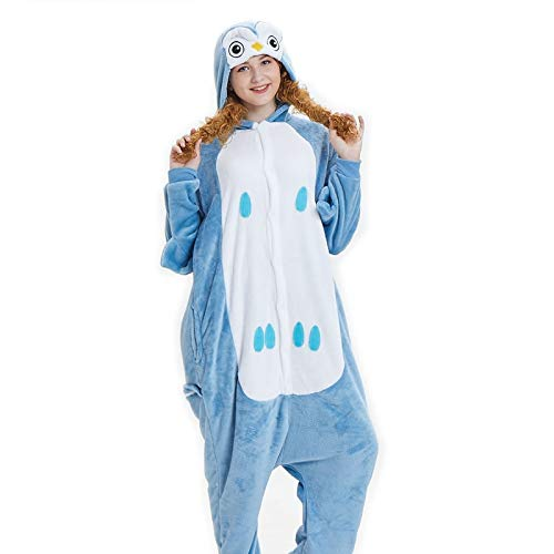 a063d02d137a HITSAN Adult Unicorn Pajama Sets Cartoon Women Men Sleepwear Children Pajama  Unicorn Pajamas Flannel Hooded Cosplay Zipper Kigurumi Owl Size XL   Amazon.in  ...