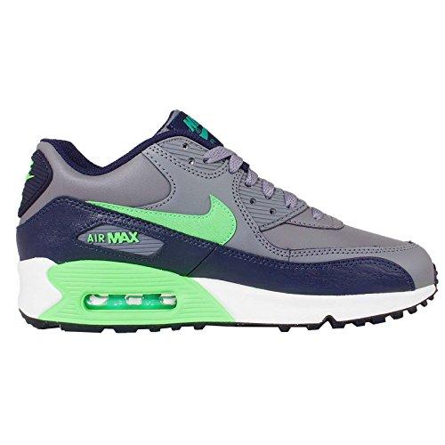 Nike Air Max 90 Ltr Gs, Cool Grey / Vltg Grün-Obsidian-LCD-Grn, Jugend Grö�e 4 COOL GREY/VLTG GREEN-OBSIDIAN-LCD GRN