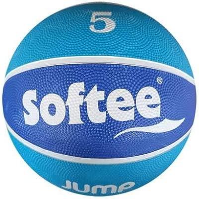 Balon Baloncesto Nylon Softee Jump - Talla 5 - Color Celeste Y ...