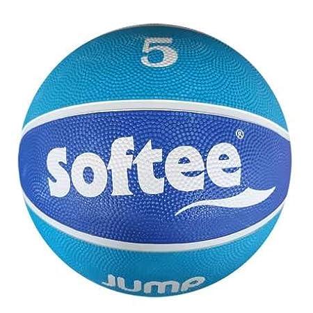 Balon Baloncesto Nylon Softee Jump - Talla 7 - Color Celeste Y ...