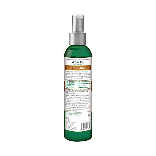 Vet's Best Flea and Tick Home Spray | Flea Treatment for Dogs and Home | Flea Killer with Certified Natural Oils 7