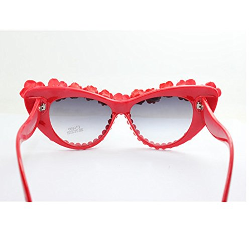 De De Gafas Moda De De Volver De Sol Gafas Ojo Flor Gato Mujer Gafas Rosa Sol TIANLIANG04 4ZW1OnxRR