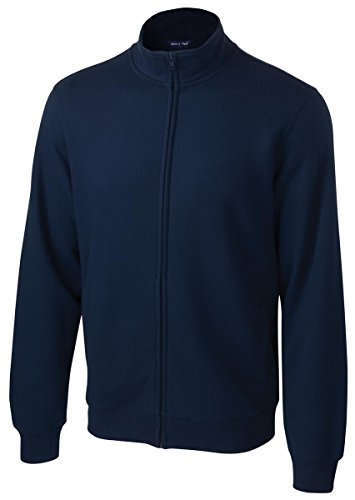 Sport-Tek Men's Full Zip Sweatshirt,X-Large,True Navy