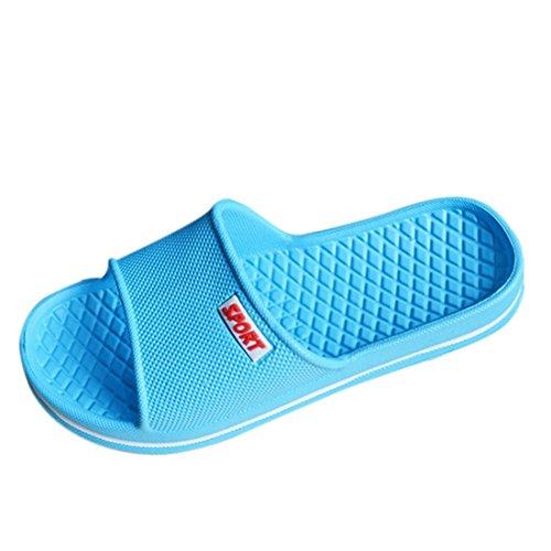Qianle - Sandalias de Material Sintético para hombre azul celeste