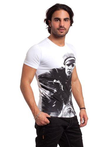 Redbridge Herren T-Shirt slimfit Biker weiß L