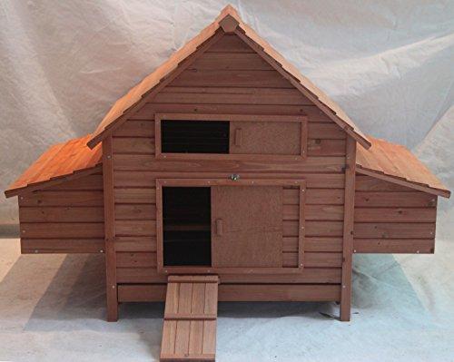 "Fiveberry 62"" Large Wood Chicken Coop Backyard Hen House 6-10 Chickens Run w 6 nesting box"