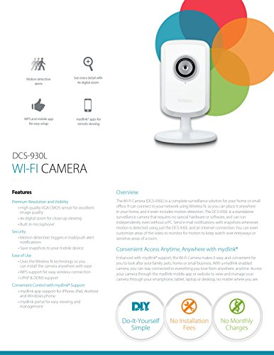 D-Link Wi-Fi Camera with Remote Viewing (DCS-930L)
