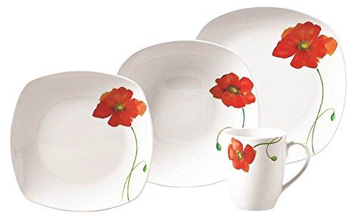 Poppy 16 Piece Dinnerware Set