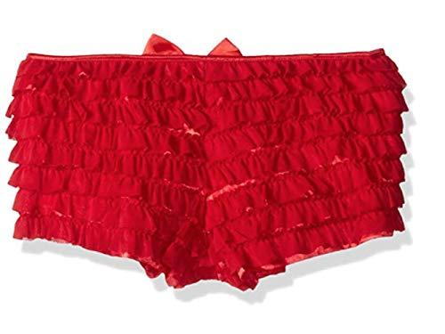 Daisy Corsets Mesh Ruffle Panty w/Bow Medium Red]()