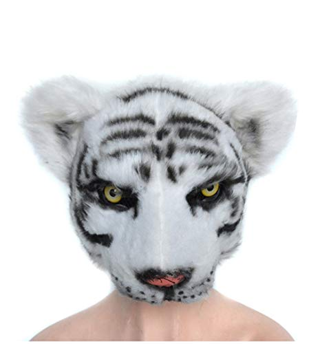 (Pre-fashion Novelty Furry Tiger Animal Head Halloween Costume Party Masks Masquerade Accessories (Color 2))