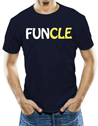 Universal Apparel Men's Funcle Fun Uncle T-Shirt Large Navy