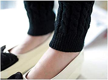 Upstore 1Pair Long 43cm//16.9 Thicken Elastic Knitted Winter Fashion Thermal Leg Warmers Stocking Long Sock Boot Cuffs Topper Legging Pads Clothing Accessories for Women Lady Girls