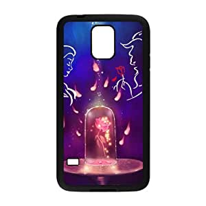 LeonardCustom- Beauty and The Beast Princess Belle Protective Hard Rubber Coated Cover Case for Samsung Galaxy S5 -LCS5U363