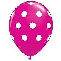 Decoration Pink Polka dot balloons