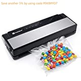 Vacuum Sealer, Fresh World 4 in 1 Automatic Stainless Steel Food Sealer with Touch Screen, Built-in Cutter and Starter Kit For Dry & Moist Food, Clothing,Paperwork,Jewelry Preservation