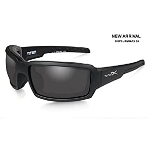 Wiley X CCTTN01 WX Titan Sunglasses w/Matte Black Frame & Grey Lens