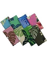 8pcs 21.6 x 18.5 inches (55 x 45 cm) Quilting Fabric No Repeat Design 100% Cotton Precut Fat Quarters Fabric Bundles for DIY Sewing Crafting Patchwork