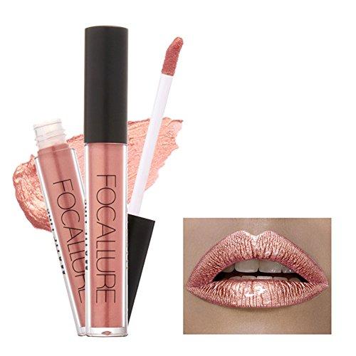 Gracefulvara Waterproof Long Lasting Metallic Matte Lip Gloss Non-stick Cup Lipstick 21#