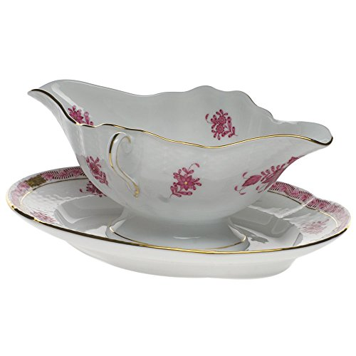 Herend Chinese Bouquet Raspberry Gravy Boat
