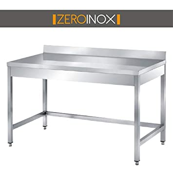 ZeroInox Mesa de Acero Inoxidable Profesional con - tartera ...