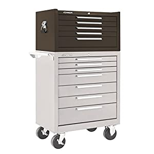 """Kennedy Manufacturing 285XB 27"""" 5-Drawer Industrial Top Chest, Tan Brown Wrinkle"""