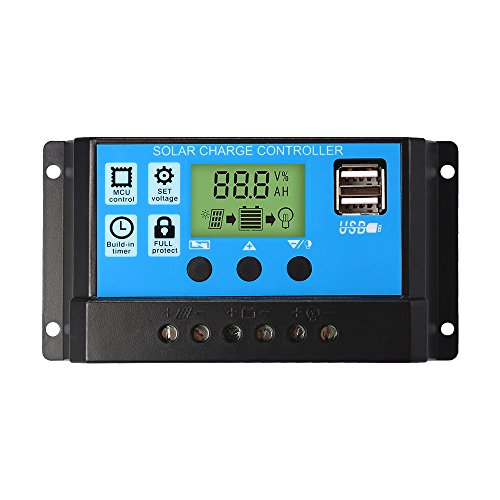XCSOURCE 10A Charge Controller Solar LCD Display Charge Regulator Intelligent Dual USB Port Charger 12V-24V LD979