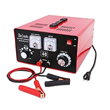 Image of Battery Chargers Beleeb Battery Charger,12V/24V/36V/48V/60V/72V Voltage and Current Manually Adjusted,Automotive Charger and Maintainer for Car, Golf Cart, Lawn Mower, Marine, Boat, Snowmobile, ATV, RV, SLA AGM GEL CE