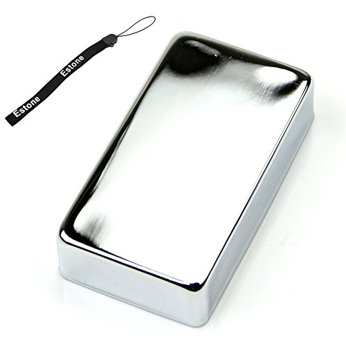 Humbucker Cover Chrome (Estone Humbucker Pickup Cover For Electric Guitar Chrome plated 15mm Seal No Hole)