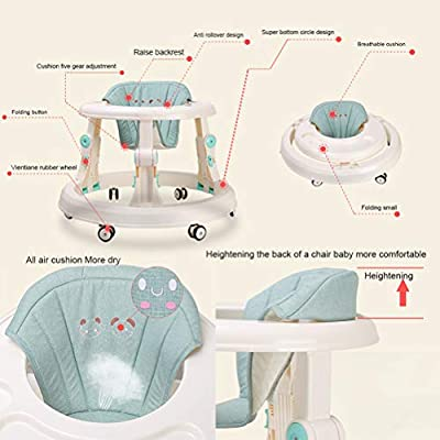 Olz Baby Walker with Brake Folding,Anti-O-Leg Baby Walker,Anti-Rollover Walker, Height-Adjustable Baby Walker,Maximum Load 15Kg,for Girls Boys 6-18Months Toddler,Gray: Sports & Outdoors